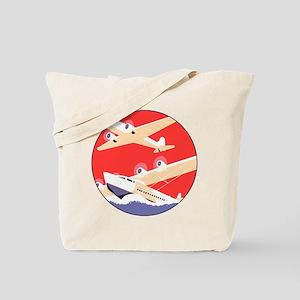 Airplanes Flying Vintage Propeller Planes Tote Bag