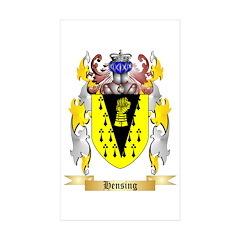 Hensing Sticker (Rectangle 10 pk)