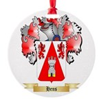 Hens Round Ornament