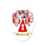Hens Oval Car Magnet