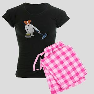 Jack Russell Terrier Curling Women's Dark Pajamas