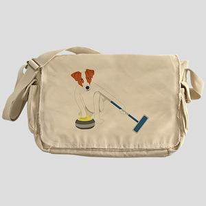 Jack Russell Terrier Curling Messenger Bag