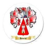 Henriot Round Car Magnet
