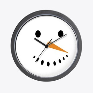 Snowman's Face Wall Clock