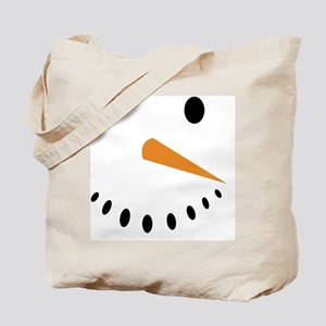 Snowman's Face Tote Bag
