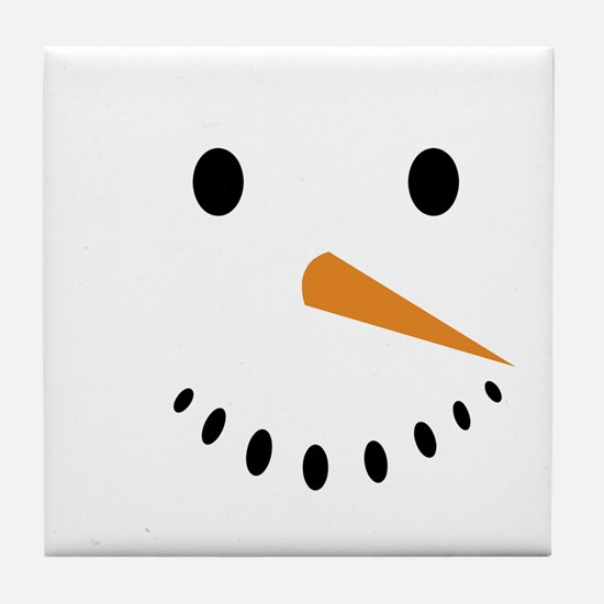 Snowman's Face Tile Coaster