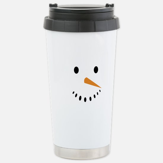 Snowman's Face Stainless Steel Travel Mug