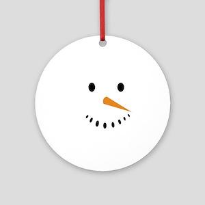 Snowman's Face Round Ornament