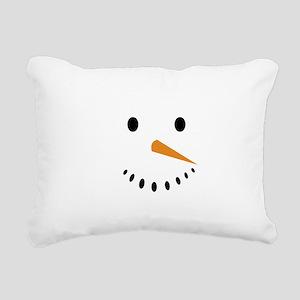 Snowman's Face Rectangular Canvas Pillow