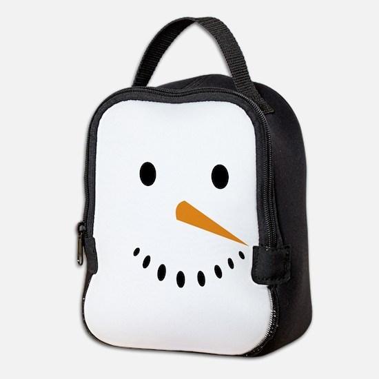 Snowman's Face Neoprene Lunch Bag