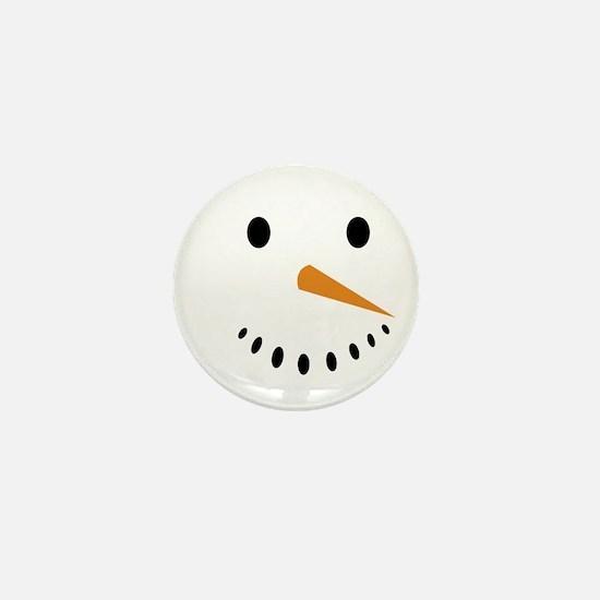 Snowman's Face Mini Button (100 pack)