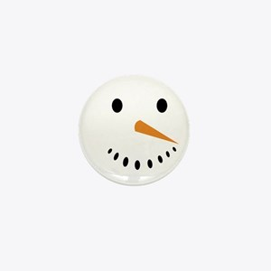 Snowman's Face Mini Button