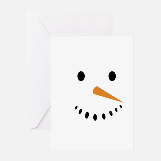 Snowman's Face Greeting Cards