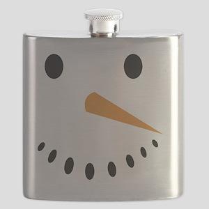 Snowman's Face Flask