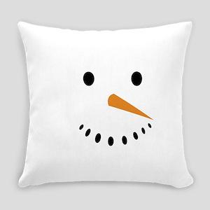 Snowman's Face Everyday Pillow