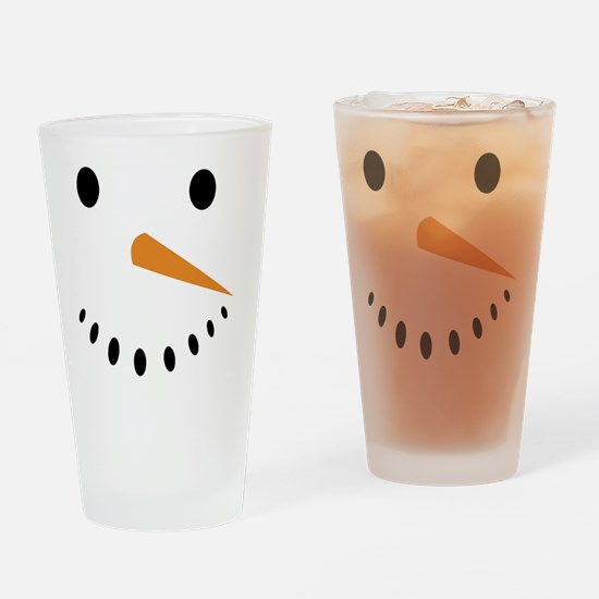 Snowman's Face Drinking Glass