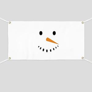 Snowman's Face Banner