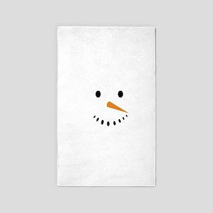 Snowman's Face Area Rug
