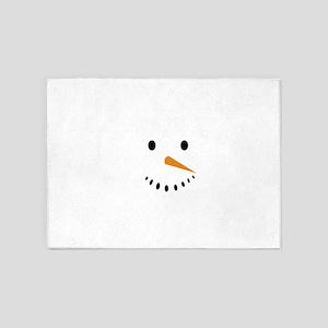 Snowman's Face 5'x7'Area Rug