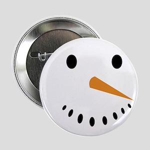 "Snowman's Face 2.25"" Button"