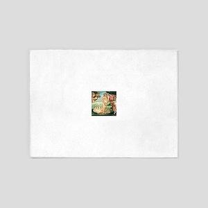 Birth of Venus by Botichelli 5'x7'Area Rug