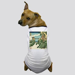 Bridge in the Clouds by Hokusai Dog T-Shirt