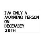 Christmas Morning Person 35x21 Wall Decal
