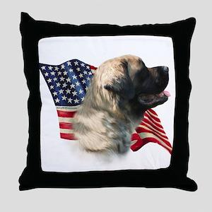 Mastiff(flf) Flag Throw Pillow