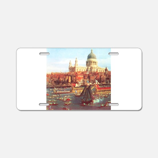 London boats on River by Canaletto Aluminum Licens