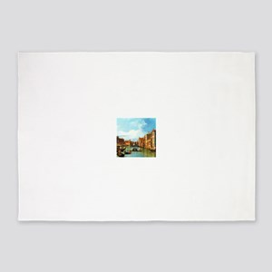 Grand Canal in Venice by Canaletto 5'x7'Area Rug