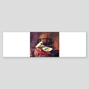Travel Globe painting by Chardin Bumper Sticker