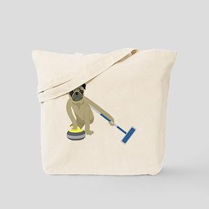 Pug Curling Tote Bag