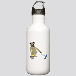 Pug Curling Stainless Water Bottle 1.0L