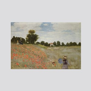 Field of Poppies art by Claude Monet Magnets