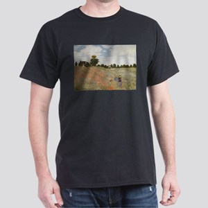 Field of Poppies art by Claude Monet T-Shirt