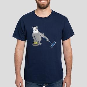 Schnauzer Curling Dark T-Shirt