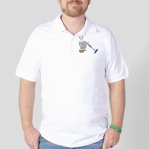 Schnauzer Curling Golf Shirt