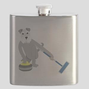 Schnauzer Curling Flask