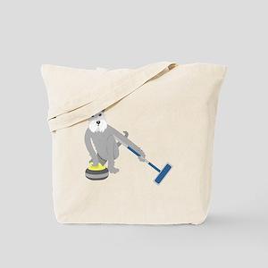 Schnauzer Curling Tote Bag