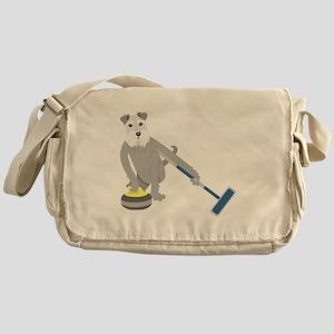 Schnauzer Curling Messenger Bag