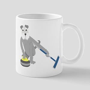Schnauzer Curling Mug