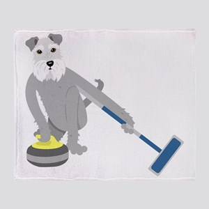 Schnauzer Curling Throw Blanket