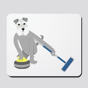 Schnauzer Curling Mousepad