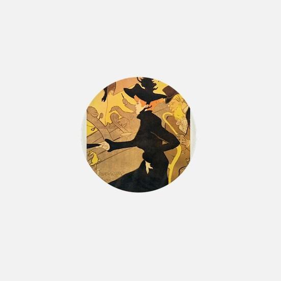 Divan Japonais by Toulouse-Lautrec Mini Button