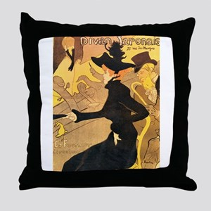 Divan Japonais by Toulouse-Lautrec Throw Pillow