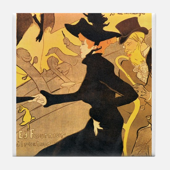 Divan Japonais by Toulouse-Lautrec Tile Coaster