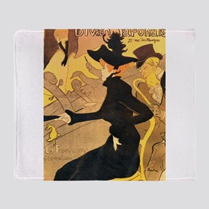 Divan Japonais by Toulouse-Lautrec Throw Blanket