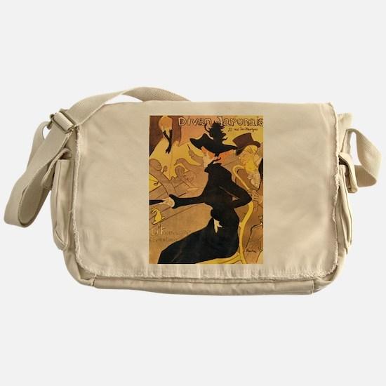 Divan Japonais by Toulouse-Lautrec Messenger Bag