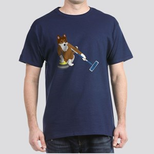 Shetland Sheepdog Curling Dark T-Shirt