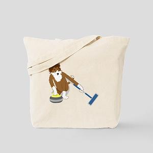 Shetland Sheepdog Curling Tote Bag